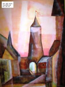 Turm, Acryl, 60 x 80 cm