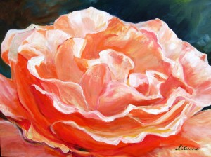 Rose, Acryl. 60 x 80 cm