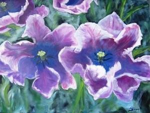 Hibiskus, Acryl, 60 x 80 cm