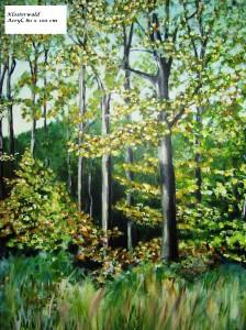 Im Klosterwald, Acryl, 70 x 100 cm