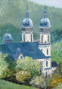 Klosterkirche, 50 x 70 cm, Acryl