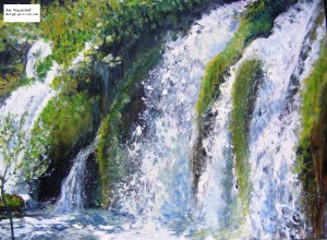 Wasserfall, Acryl,70 x 100 cm