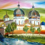 Kloster Abstrakt, 60 x 80 cm, Acryl