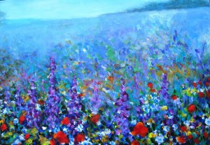 Sommerwiese, 50 x 70 cm, Acryl