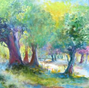 Mai Morgen, Acryl,80 x 80 cm