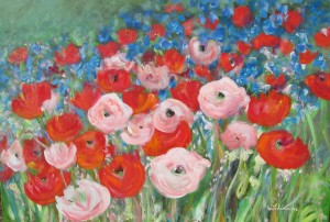 Sommer Garten, 70 x 100 cm
