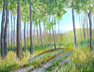 Am Wald Entlang, 90 x 120 cm