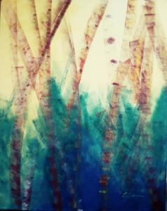 Wasserpflanze, 80 x 100 cm