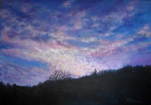 Abendhimmel, 60 x 100 cm