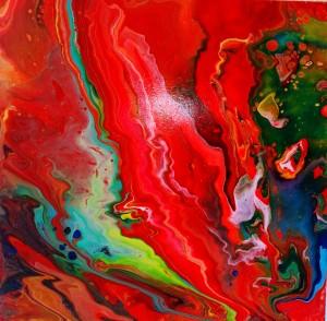 Wärme, Acryl, 50 x 50 cm